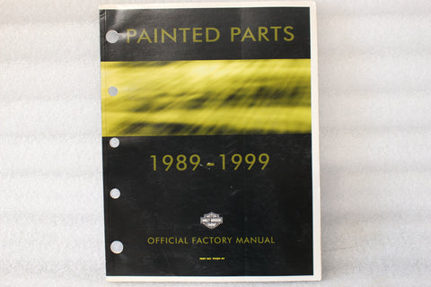 OEM 1989-1999 HARLEY PAINTED PARTS MANUAL CATALOG 99489-99