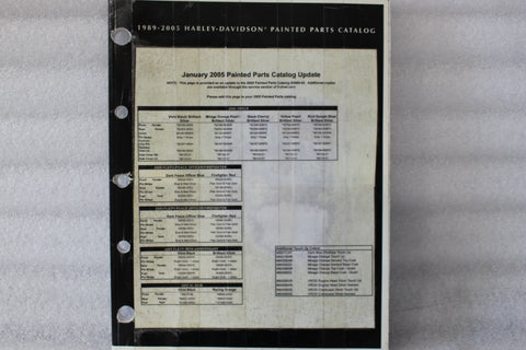 OEM 1989-2005 HARLEY PAINTED PARTS MANUAL CATALOG 99489-05