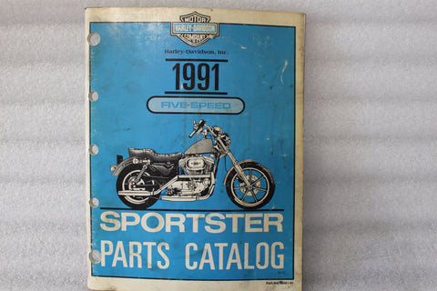 OEM 1991 HARLEY SPORTSTER PARTS MANUAL CATALOG 99451-91