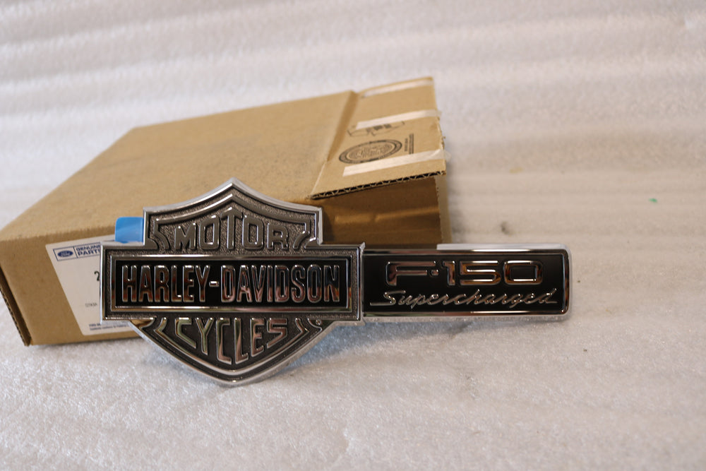 NEW FORD F-150 HARLEY-DAVIDSON SUPERCHARGED NAME PLATE EMBLEM 2L3Z-16720-BA