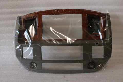 NEW OEM NOS 2007-2009 DODGE RAM 1500 2500 3500 RADIO DASH BEZEL 5JZ121J8AC