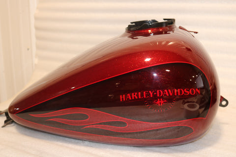 OEM 2009-2019 HARLEY TOURING STREET GLIDE HOT ROD CANDY FLAKE GAS TANK