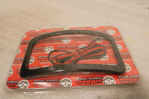 NEW HARLEY PAUL YAFFE STEALTH 2 LICENSE PLATE FRAME WITH LIGHT