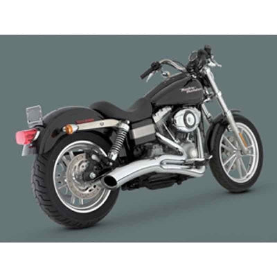 NEW 2006-2011 HARLEY DYNA VANCE & HINES 2-INTO-1 BIG RADIUS EXHAUST