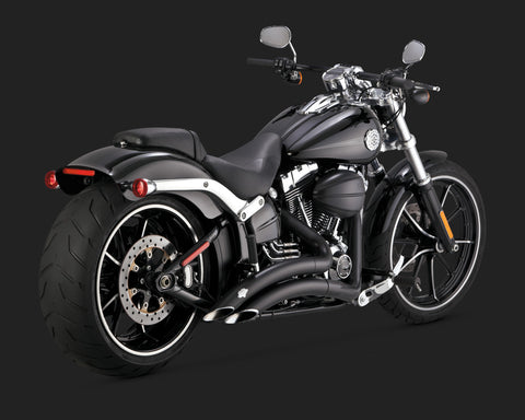NEW 2012-2017 HARLEY FXSB SOFTAIL BREAKOUT VANCE & HINES BIG RADIUS 2-INTO-2