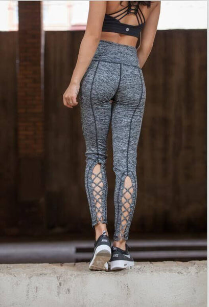 Compression Crop Criss Cross Pants With Super Hiney Trainer™ Built-in