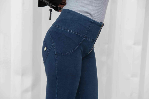 Dark Stitching Low/High Waist Denim Jeans Lifts & Supports
