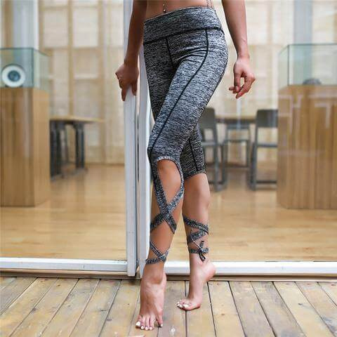 2019 Yoga Ballet Bandage Leggings With Hiney Trainer™ Built-in