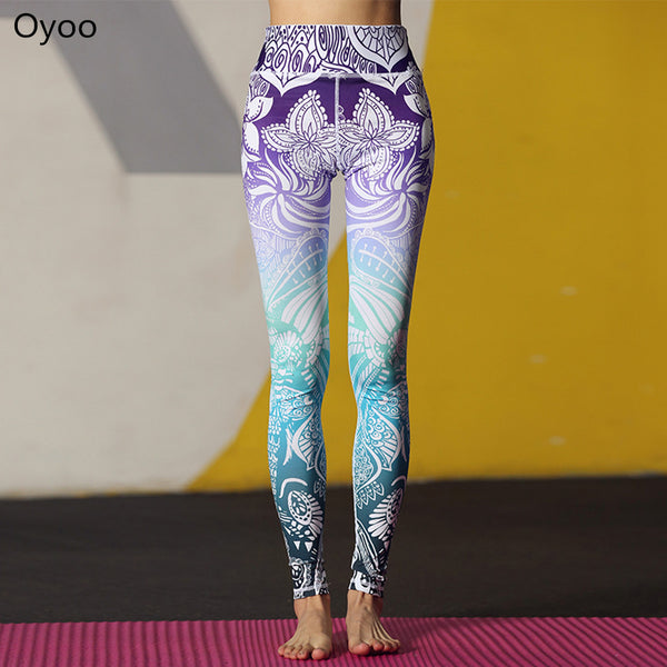 High Waist Floral Printed Leggings Hiney Trainer™