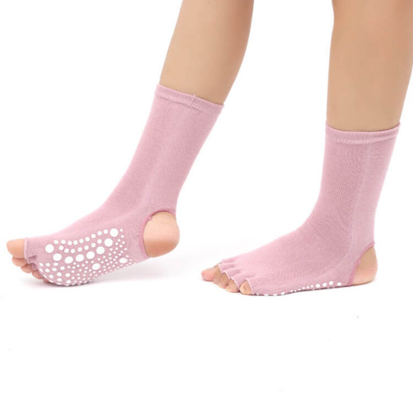 Women Half Toe Socks Knitted Non Slip