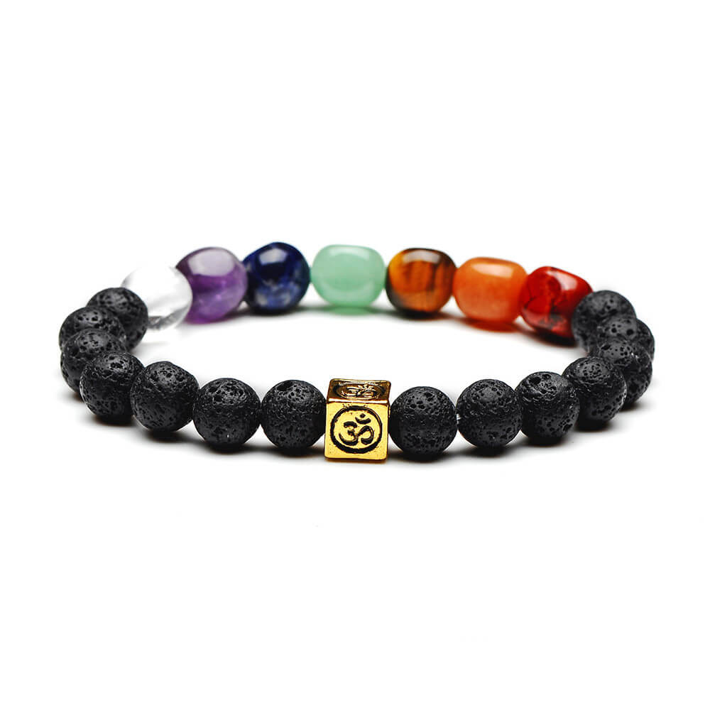7 Chakra Men Women Handmade Rope Yoga  Bracelets