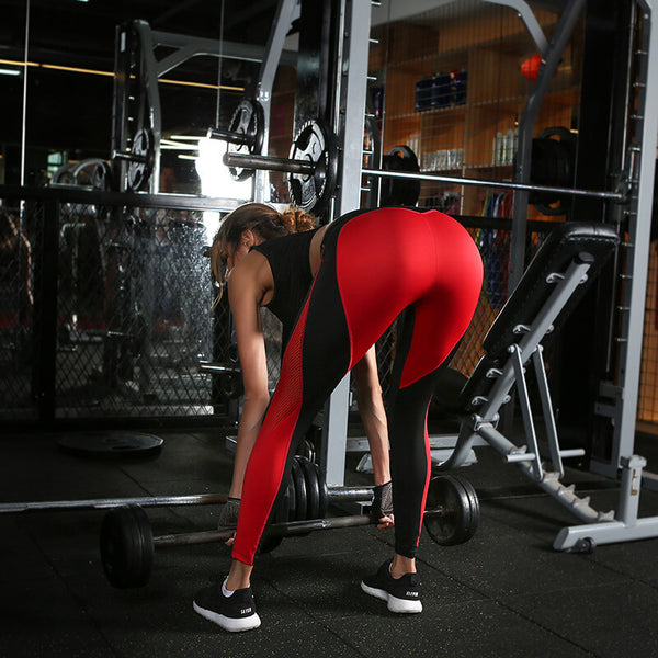 2019 Sexy Mesh Contrast Heart Compression Yoga Pants With Super Hiney Trainer