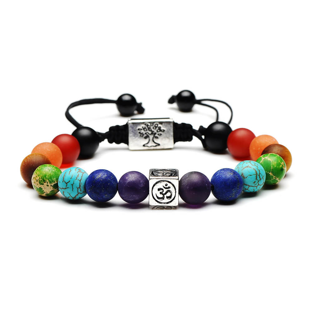 7 Chakra Tree Of Life Women Men Yoga Bracelets