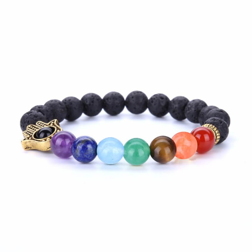 7 Chakra Lava Natural Stone Bracelets For Women
