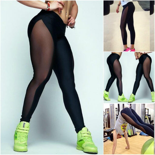 Full Sheer Yoga Leggings With Hiney Trainer™ X Edition Built-in