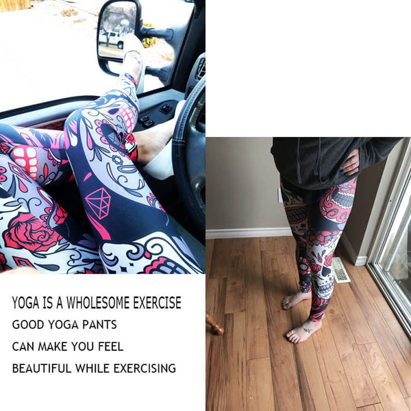 Fashion Skull Messy Women Fitness Leggings