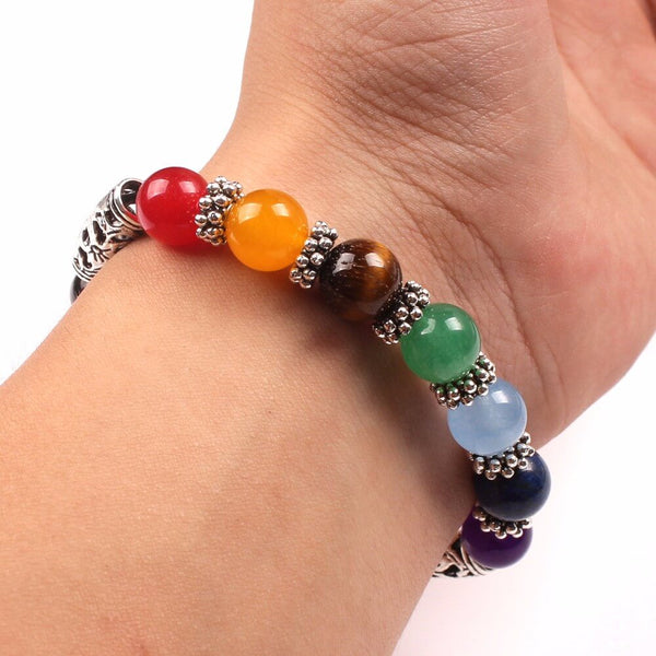 New Men Women 7 Chakra Bracelets Bangles