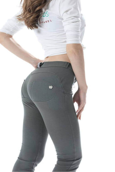 2019 Knitted Mid Waist Olive Pants With Built-in Super Hiney Trainer X™