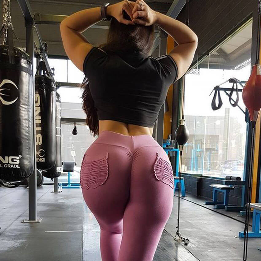Big Pocket Wrinkles Push Up Leggings