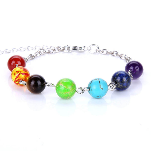 7 Chakra Healing Balance Beads Necklaces for Women