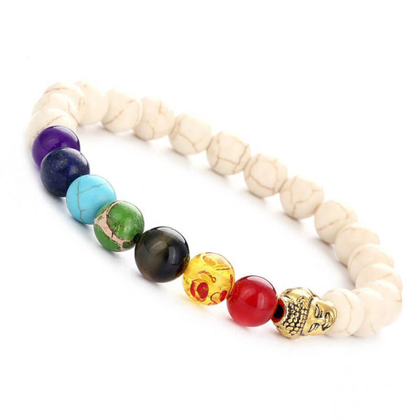 7 Chakra Women Men Natural multi color Stone Bracelets