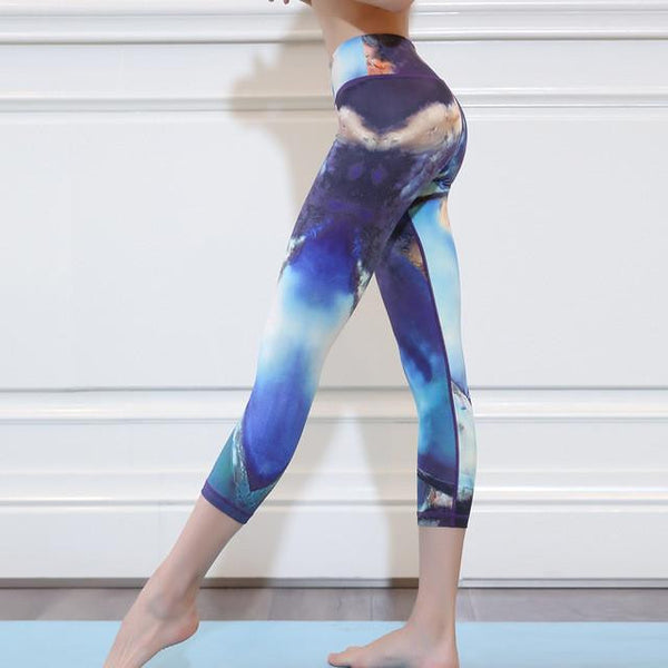 Floral 3.4 Calf Summer Leggings With Built-in Hiney Trainer™