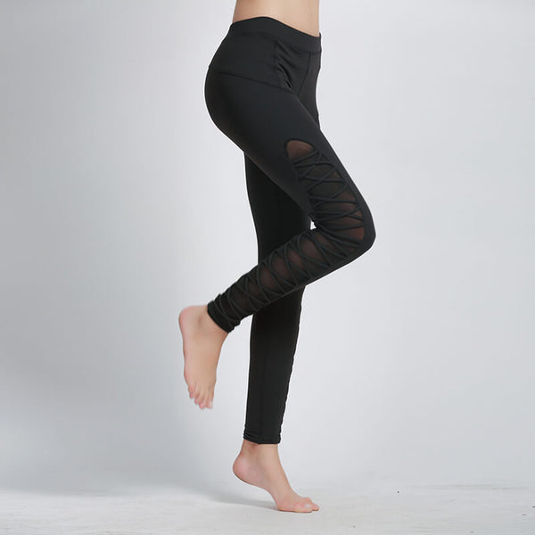 Fitness Sexy Mesh Patchwork Breathable Leggings