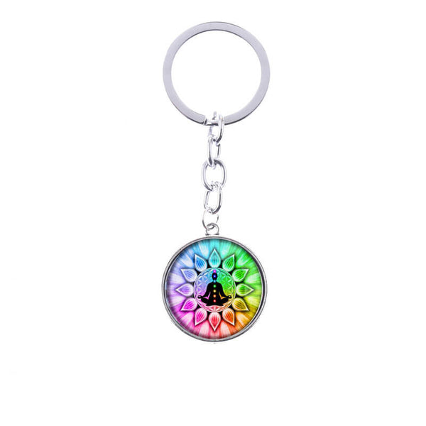 7 Chakra  Key Chain Ring Pendant For Bag