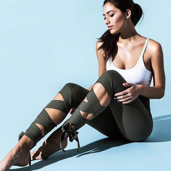Sun Salutation Women Active Bandage Leggings With Built-In Hiney Trainer