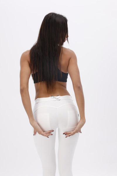 2019 White Knitted Low Waist Pants With Built-in Super Hiney Trainer X™