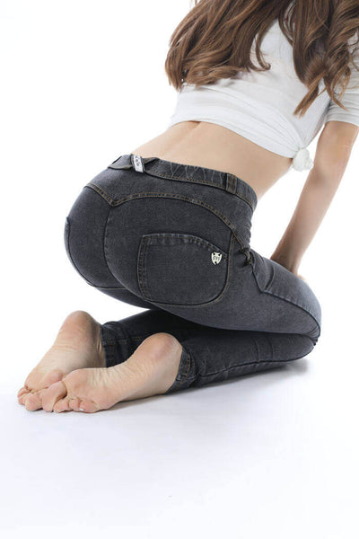 2019 Low Waisted Grey Denim Jeans With Built-in Hiney Trainer X™ Lifts & Supports For A Flattering Fit