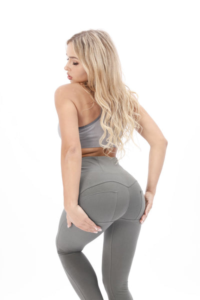 2019 Knitted High Waisted Olive Pants With Built-in Super Hiney Trainer X™ Lifts & Supports For A Flattering Fit