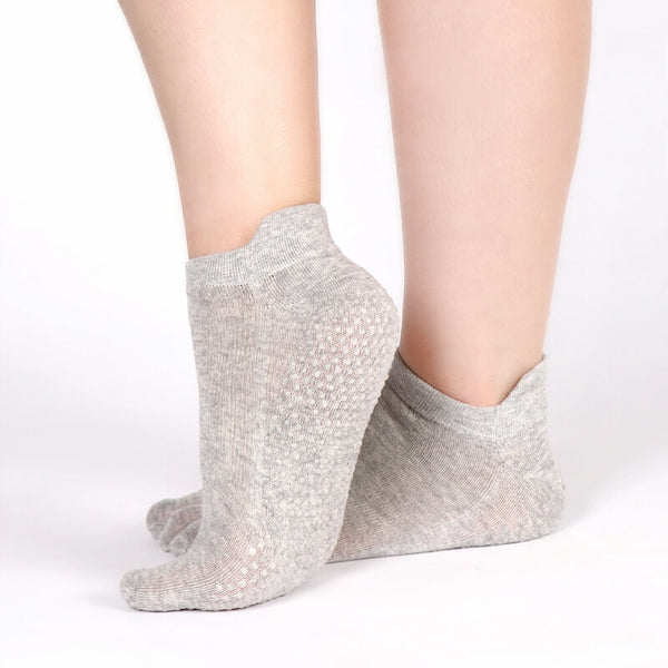Women Fitness Socks Non Slip Ladies Massage Five Finger Sock