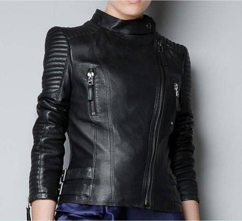 Back Leather Jacket for Casual Wear