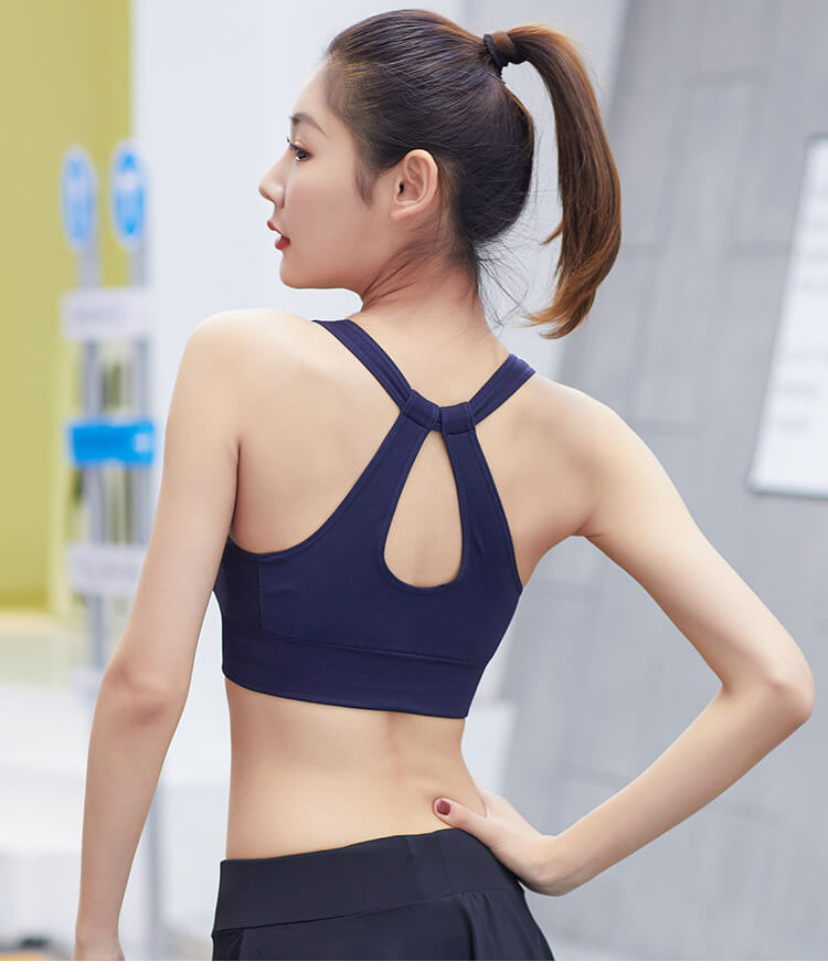 Push Up Sporting Bra - Backless Wire Free Fitness Bras