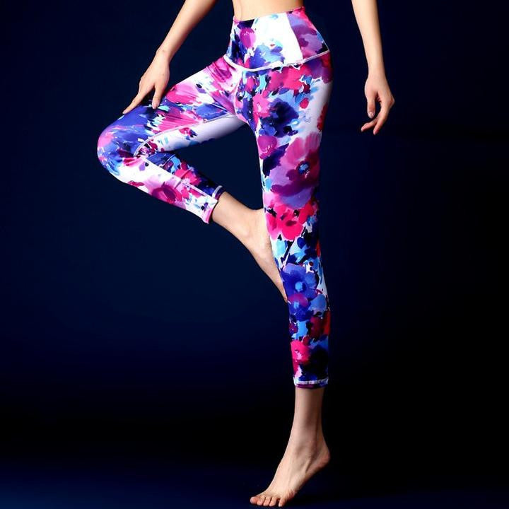 Colorful 3D Print Yoga Pants Fitness Leggings With Hiney Trainer™ Built-in