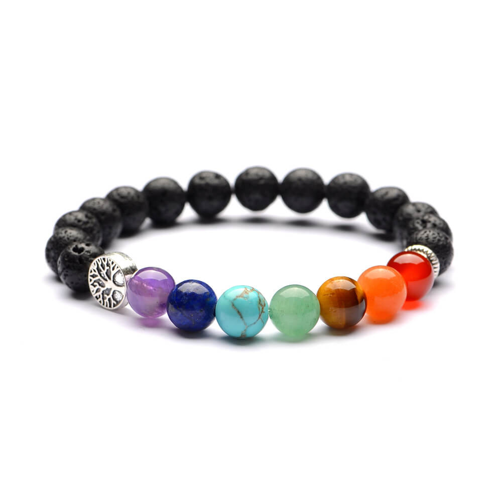 7 Chakra Men Women  Natural Stones Beads Bracelets