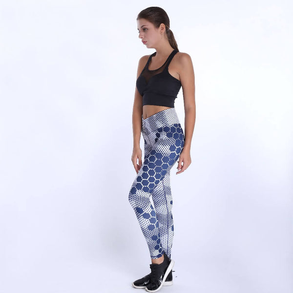 High Waist Dots Printed Fitness Leggings