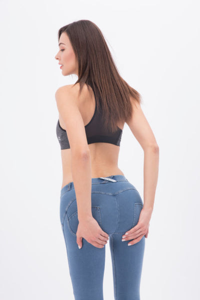 2019 Low Waisted Light Blue Denim Jeans With Built-in Hiney Trainer X™ Lifts & Supports For A Flattering Fit