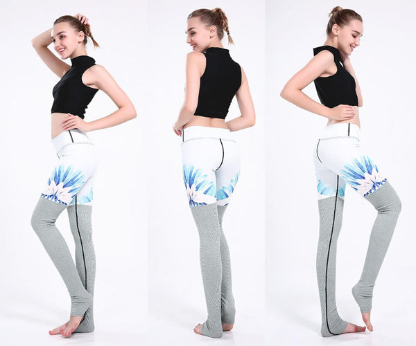 All Season Gradient Striped Printed Leggings