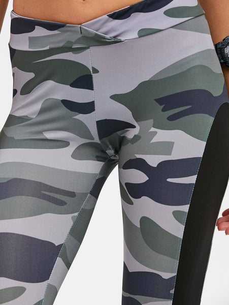 2019 Camo Patchwork Yoga/ Workout Leggings