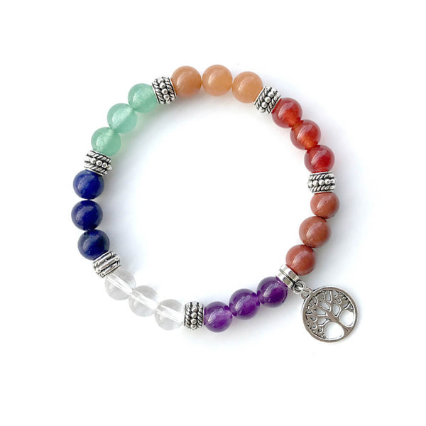 7 Chakra Natural Stones Beads Women Bracelets