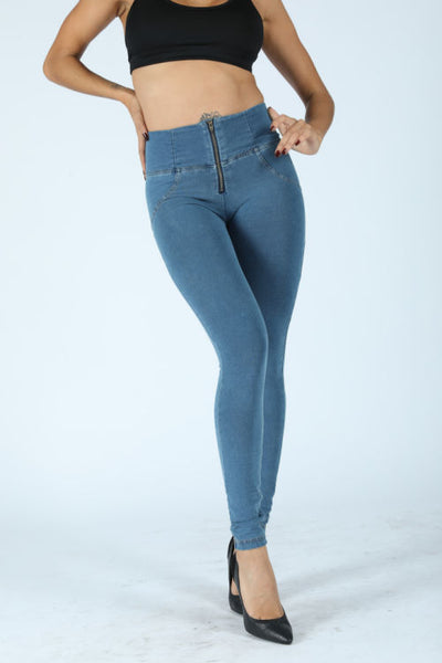 2019 High Waisted Denim Jeans With Built-in Hiney Trainer X™ Lifts & Supports For A Flattering Fit!