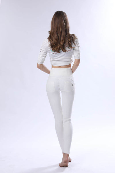 2019 Knitted High Waisted White Pants With Built-in Super Hiney Trainer X™