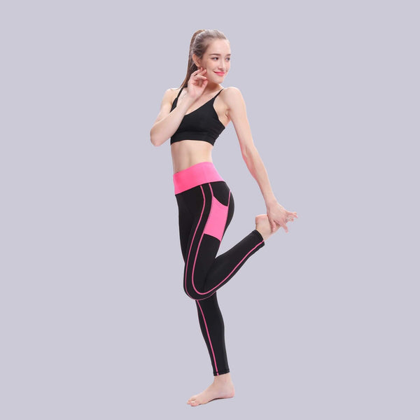 Side Pocket Splice Sporting Leggings