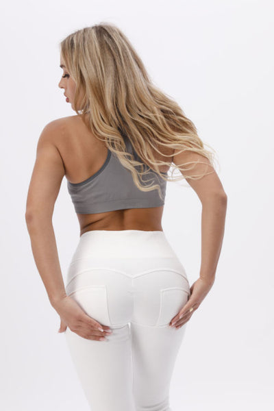 2020 Knitted High Waisted White Pants With Built-in Super Hiney Trainer X™