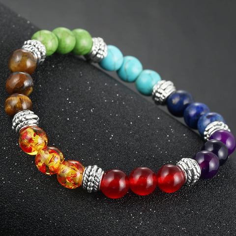 New Men Women 7 Chakra Bracelets Bangle