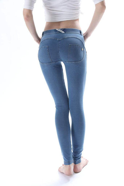 2020 Mid Waisted Light Blue Denim Jeans With Built-in Hiney Trainer X™