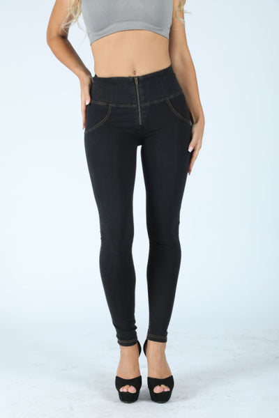 2019 High Waisted Black Denim Jeans With Built-in Hiney Trainer X™ Lifts & Supports