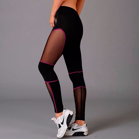 Black Mesh Splice Leggings